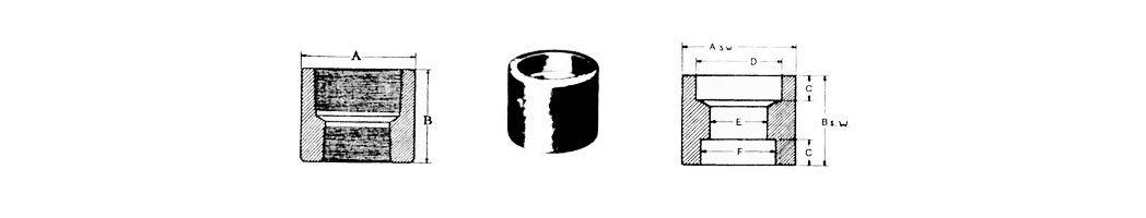 accesorios forjados medidas cupla reduccion