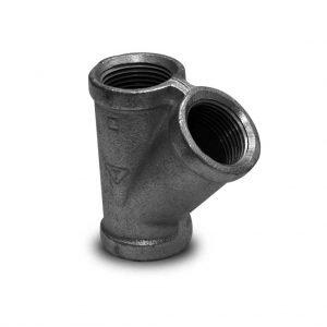accesorios hierro maleable 150 tee 45