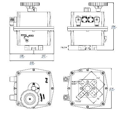actuador electrico reversible multivoltage referencias d