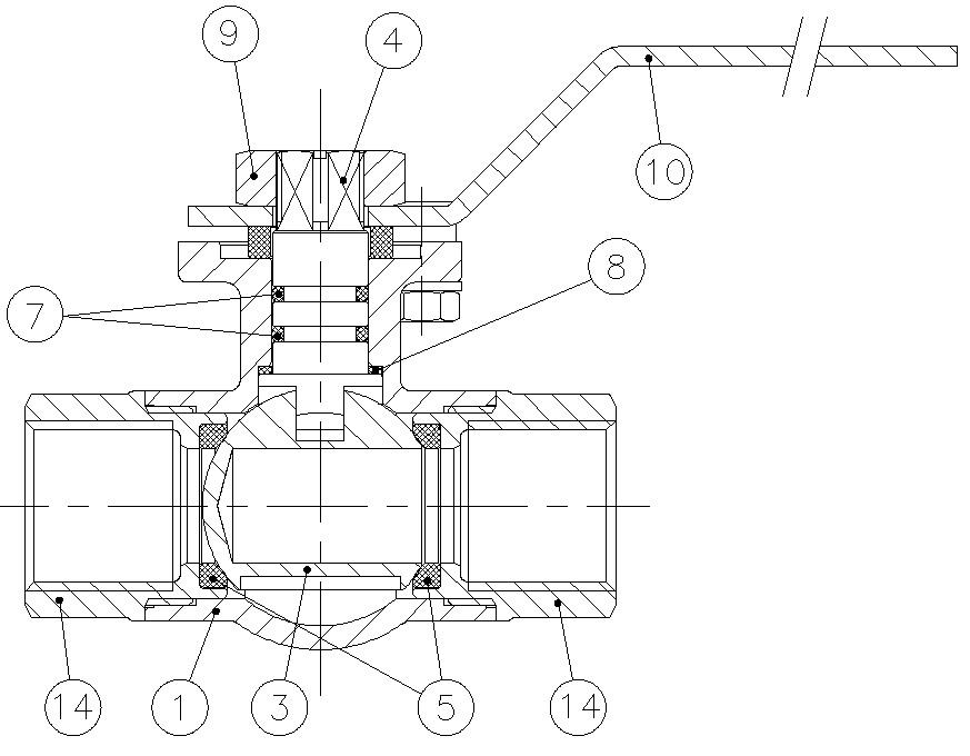 valvula de esfera 3 vias tipo l t montaje directo referencias a