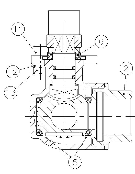 valvula de esfera 3 vias tipo l t montaje directo referencias b