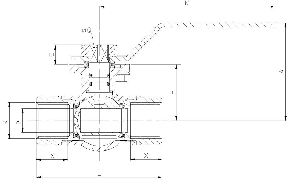 valvula de esfera 3 vias tipo l t montaje directo referencias c