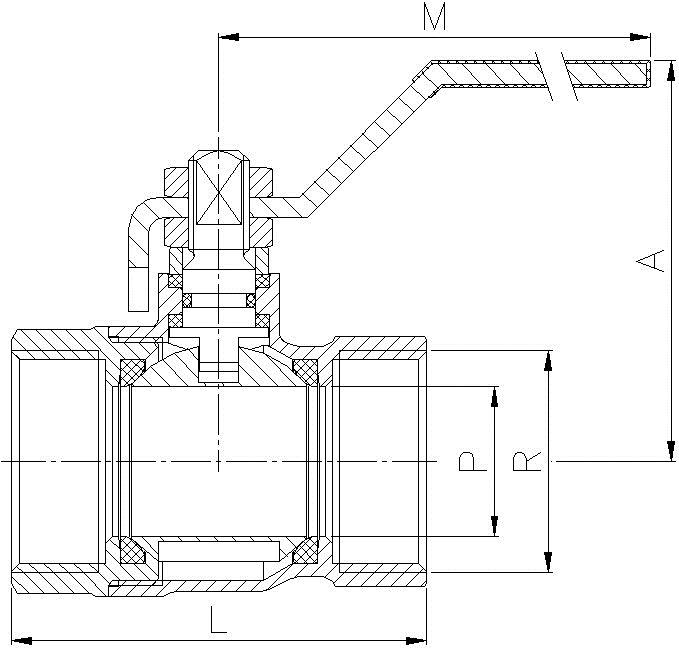 valvula de esfera serie ligera referencias b