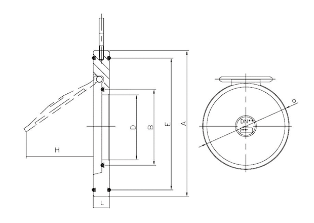 valvula de retencion tipo wafer de simple disco referencias b